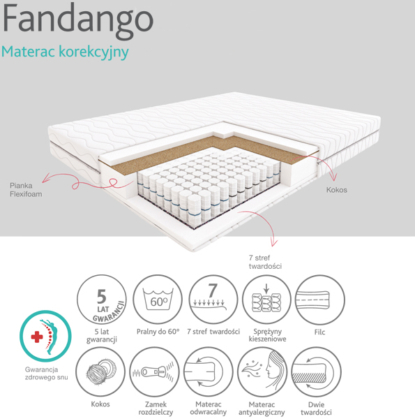 Materac Fandango - Materace HILDING