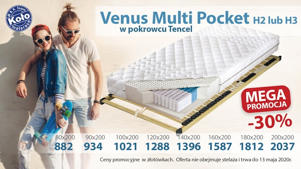 materac venus multi pocket 7 stref